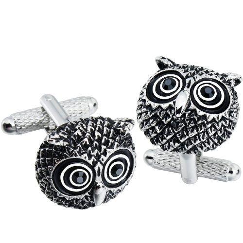 Anti-Silver Plated Owl Cufflinks for Men