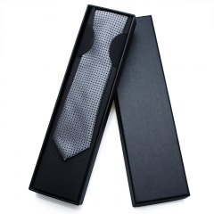 Mens Ties-Solid color slim Neckties-Skinny Ties Polyester Men Tie with a Gift Box - HAWSON