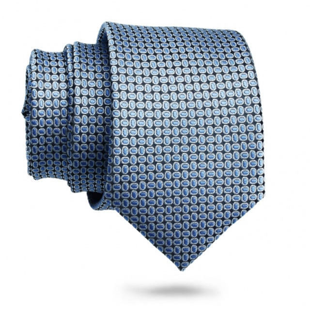 Slim Necktie for Men-Blue