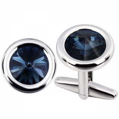 Men Cufflinks with Swarovski Crystal in Montana