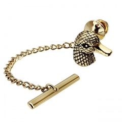 Men's Tie Tack Duck Head Pattern Men Necktie Accessory- HAWSON