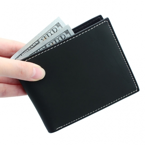 Slim Bifold Leather Wallet for Men RFID Blocking - Best Gift