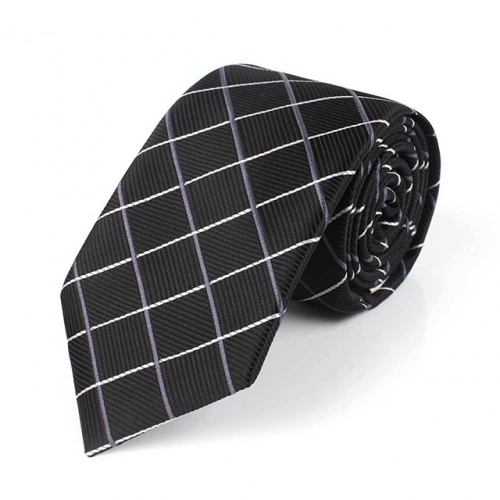 Men's Classic Ties For Men Polyester Tie Plaid Striped Necktie for Men Suit