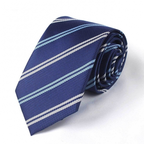 Blue Striped for Men Business Wedding in Gift Box