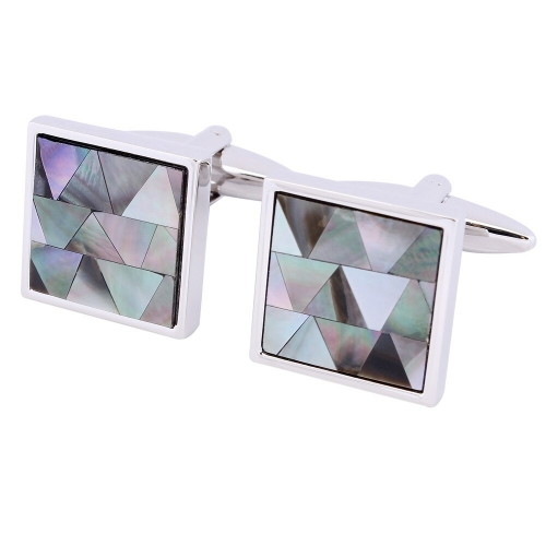 Fashion Stone Cufflinks Assembled Colorful Pearl Cuff links For Male Wedding Accessories Jewelry