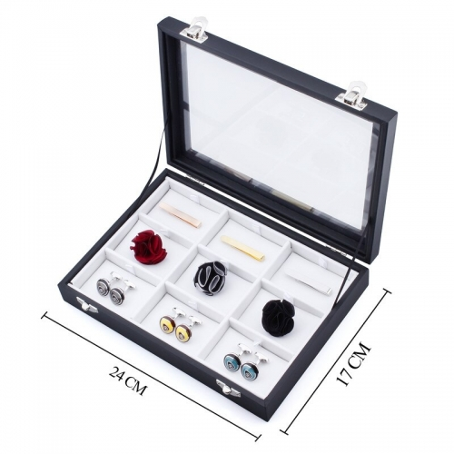 Luxury Blank Display Boxes For Brooches or Tie Clip or Cufflinks Boxing Best for Shop Display Case