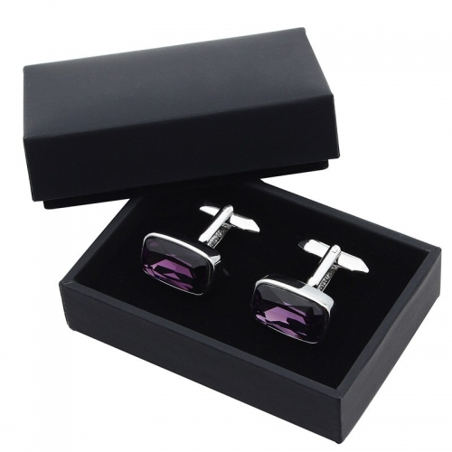 HAWSON 12pcs Wholesale Cufflinks Boxes Gift Storage Cases for Shop Jewelry Display Case Black