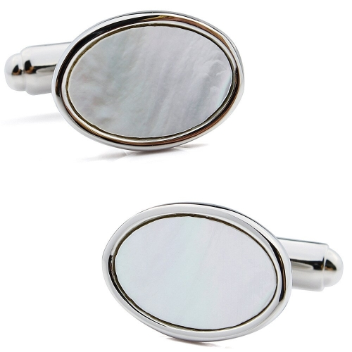 Best Gift For Men Dress Suit Shirt Mother of Pearl Cuff Links With Box Wedding Business