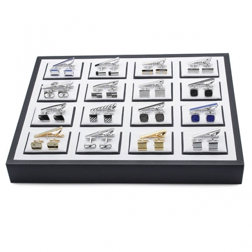 Large Display Case Plastic Box for Cufflink and tie clip